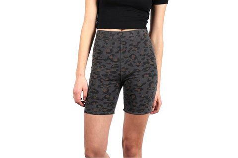 LEOPARD PRINT BIKE SHORT-BTL122 WOMENS SOFTGOODS BRUNETTE THE LABEL