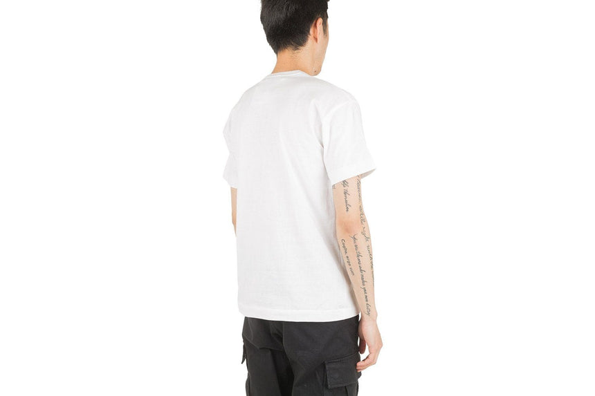 SMALL HEART BOTTOM HEART TEE 46 - T034 MENS SOFTGOODS COMME DES GARCONS