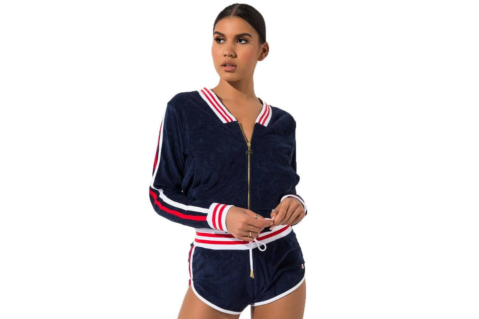 CHAMPION TERRY CLOTH WARM-UP JACKET - JL936 WOMENS SOFTGOODS CHAMPION