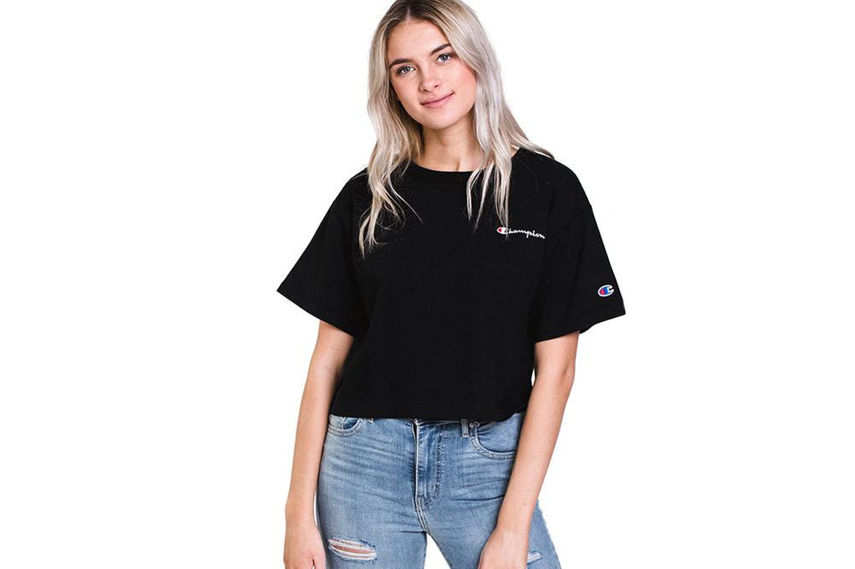 CROP TEE- WL956 WOMENS SOFTGOODS CHAMPION