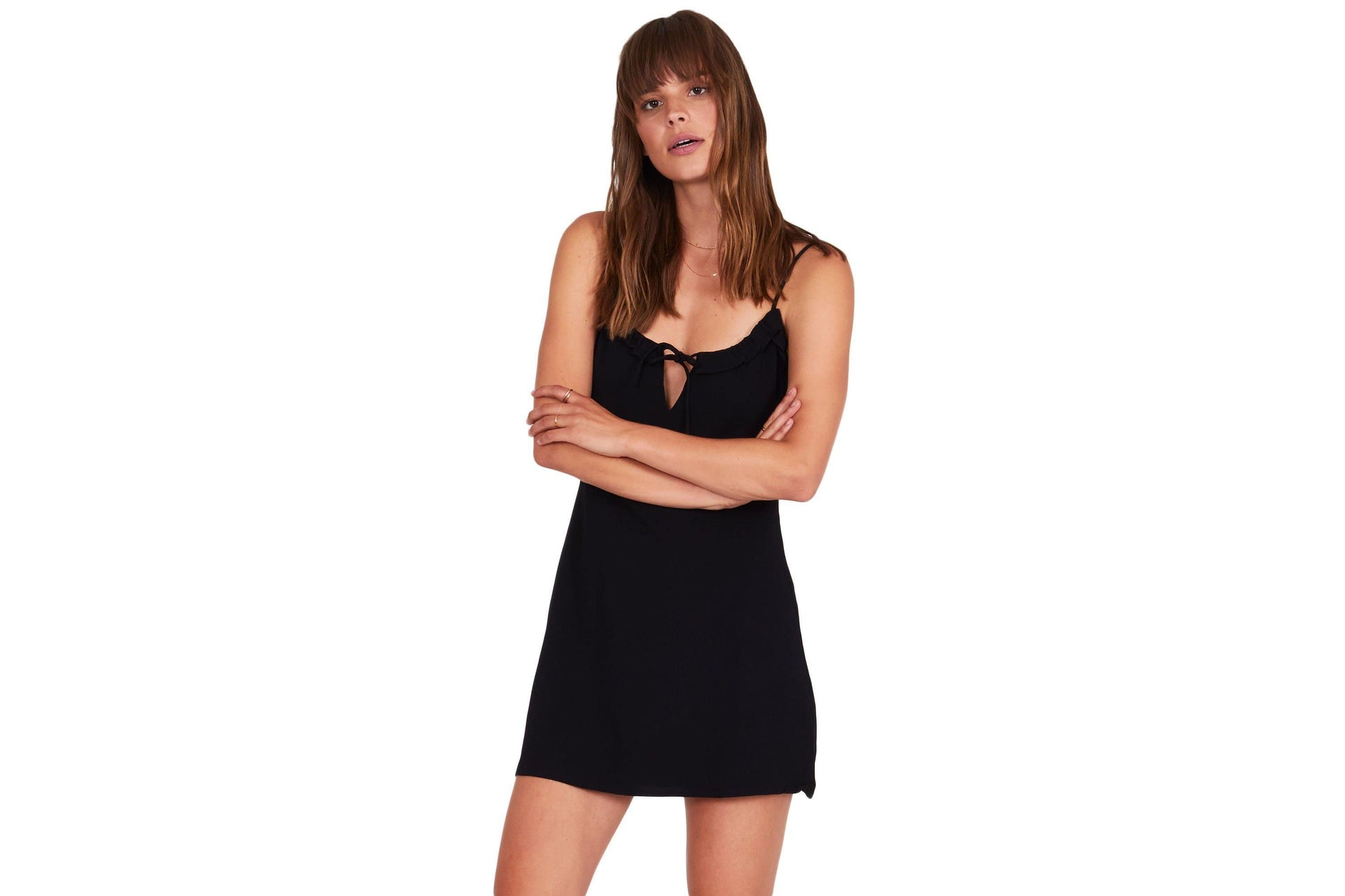 CONTIGO DRESS - AD09KCON WOMENS SOFTGOODS AMUSE SOCIETY XS BLACK