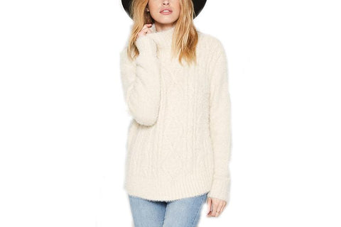 COOL WINDS SWEATER WOMENS SOFTGOODS AMUSE SOCIETY STONE M