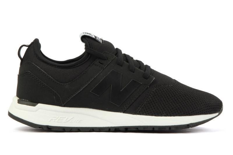 WRL247FA WOMENS FOOTWEAR NEW BALANCE BLACK/WHITE 6.5