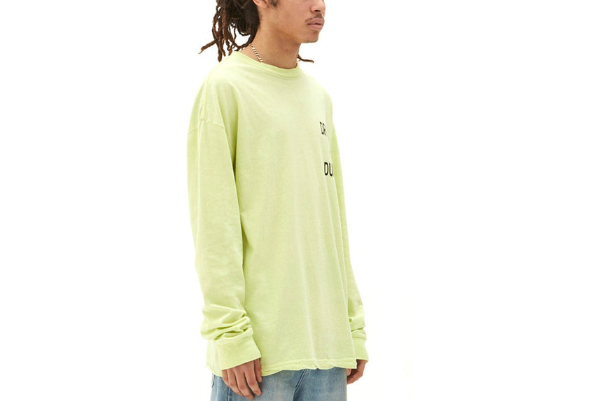 DRUGS AER DUMB LS TEE ACID-46390-YEL MENS SOFTGOODS KSUBI