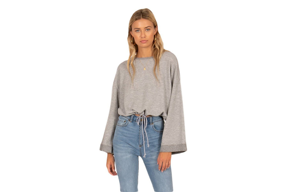 HIGH TIDE LONG SLEEVE KNIT PULLOVER - AF02LHIG WOMENS SOFTGOODS AMUSE SOCIETY