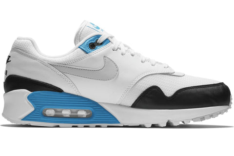 Details about 2018 Nike Air Max 90 1 SZ 9 White Black Neutral Grey Blue OG Premium AJ7695 104