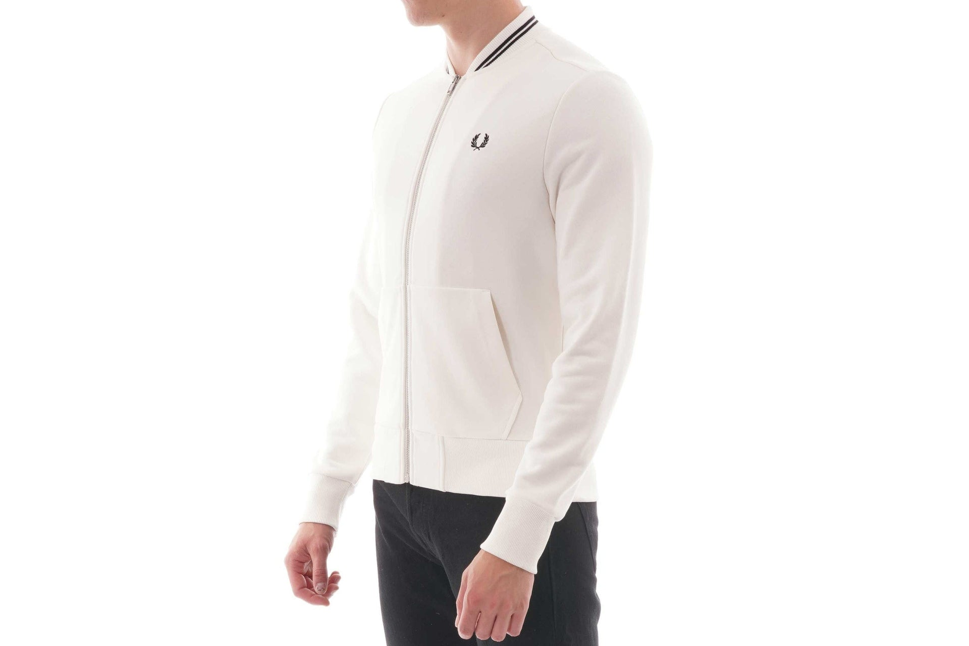 ZIP THROUGH SWEATSHIRT MENS SOFTGOODS FRED PERRY