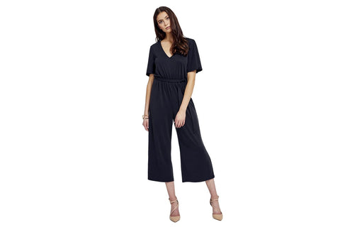 Franki jumpsuit in carbon black by gentle fawn.