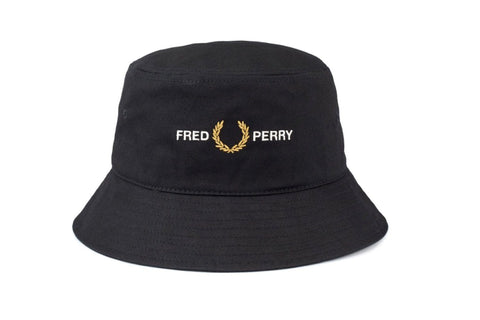GRAPHIC BUCKET HAT-HW8646 HATS FRED PERRY