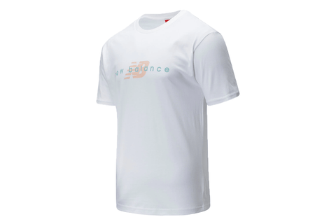 NB ATHLETIC FRIENDS WHITE TEE - MT01516 MENS SOFTGOODS NEW BALANCE