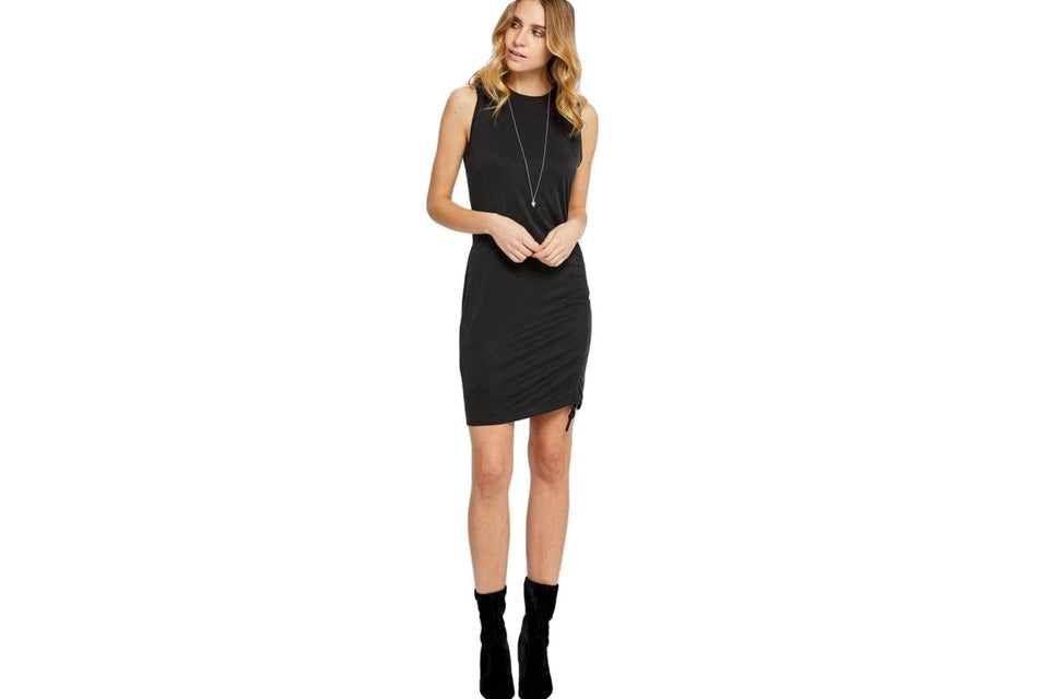 KAREN DRESS GF186-8337 WOMENS SOFTGOODS GENTLEFAWN BLACK XS