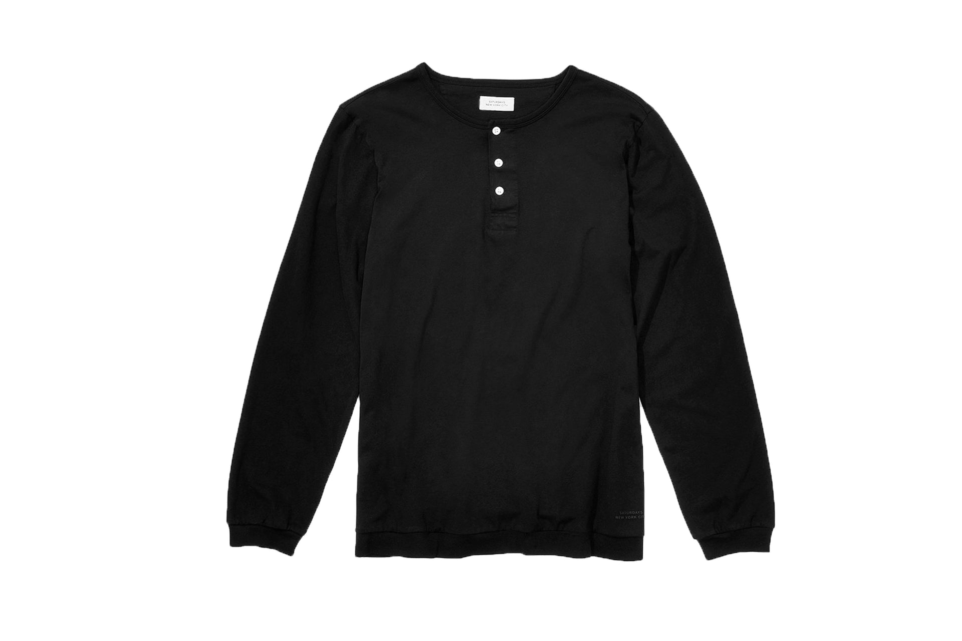 MITCH PIMA HENLEY L/S TEE MENS SOFTGOODS SATURDAYS NYC