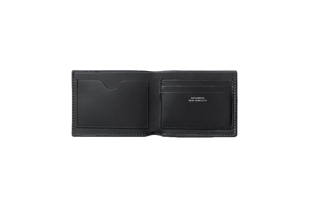BI-FOLD WALLET BLK ACCESSORIES SATURDAYS NYC
