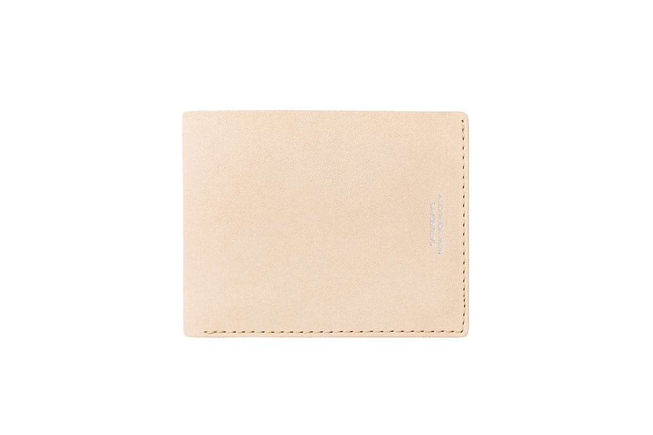 BI FOLD WALLET ACCESSORIES SATURDAYS NYC RAW VEGETABLE TAN ONE SIZE