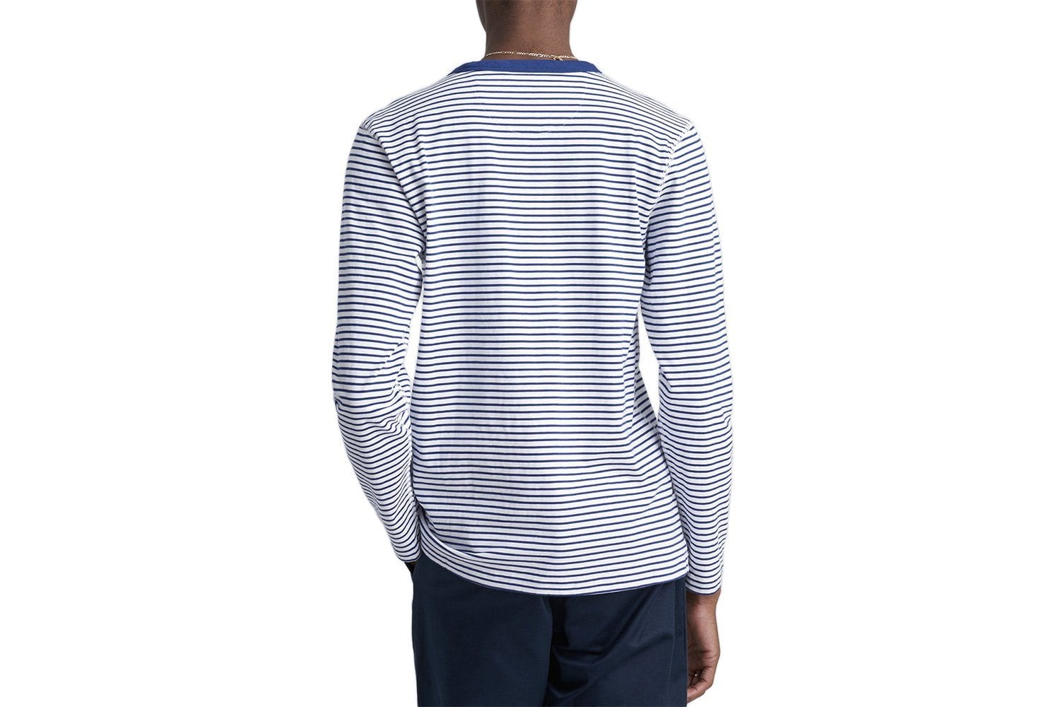 ALEK FEEDER STRIPE L/S TEE - S4700 MENS SOFTGOODS SATURDAYS NYC