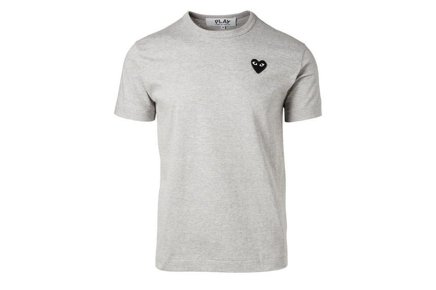 SMALL HEART GREY TEE - AZT076 MENS SOFTGOODS COMME DES GARCONS