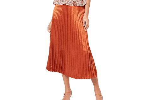AFTER GLOW PLEAT SKIRT - IM20F1435 WOMENS SOFTGOODS MINK PINK
