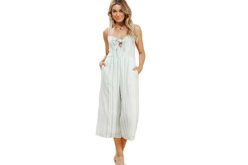 LOW TIDE FRONT JUMPSUIT - IM19S1558 WOMENS SOFTGOODS MINK PINK