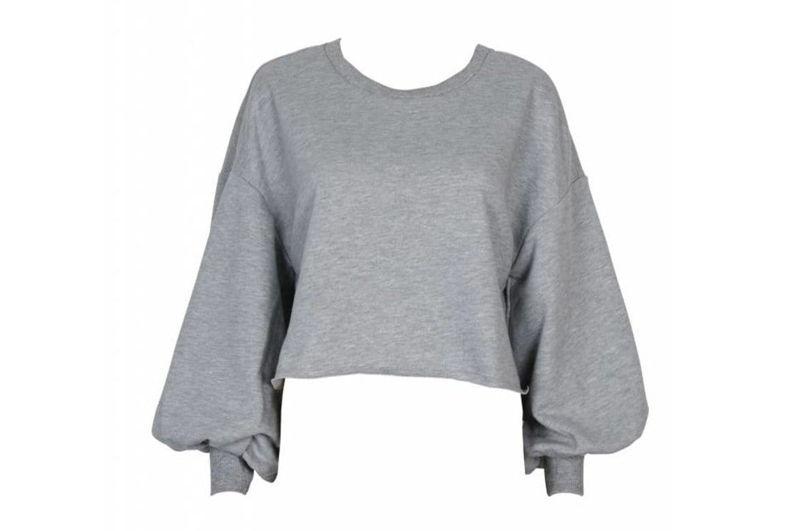 CROPPED SWEATSHIRT - IB19S1001 WOMENS SOFTGOODS MINK PINK