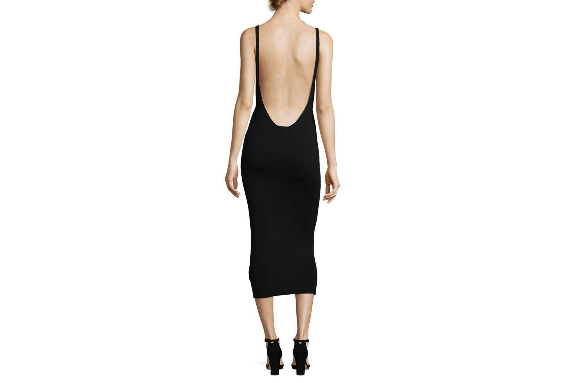 KNITTED BODYCON MIDI DRESS WOMENS SOFTGOODS MINK PINK