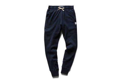 KNIT PIMA TERRY SLIM SWEATPANT NAVY - RC-W5000