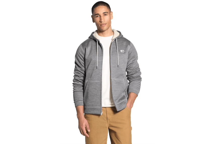 M SHERPA PATROL FUZZY HOODIE-NF0A4QZBDYY MENS SOFTGOODS THE NORTH FACE