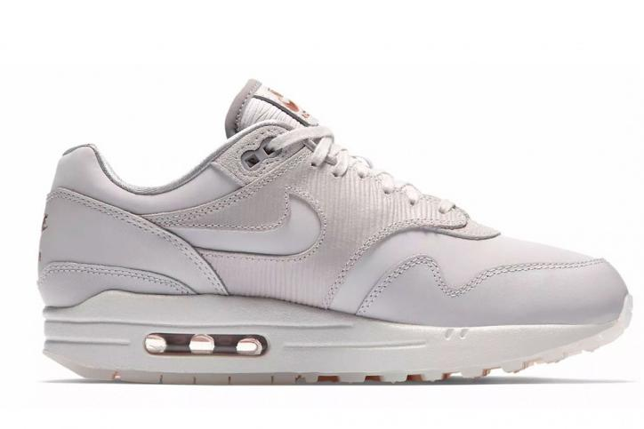 W AIR MAX 1 PRM 454746-017 WOMENS FOOTWEAR NIKE VAST GREY / VAST GREY 5.5 454746-017