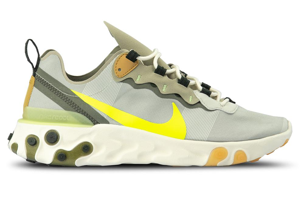 save off 7cf55 e1435 NIKE REACT ELEMENT 55 - BQ6166-009 MENS FOOTWEAR NIKE