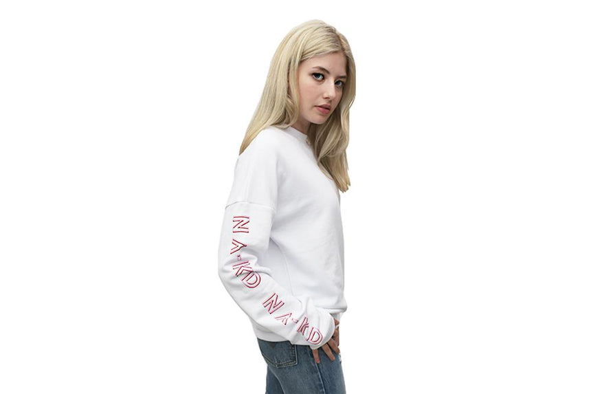 NA-KD PRINT ROUND NECK SWEATER - 1100-001228-0001-004 WOMENS SOFTGOODS NA-KD
