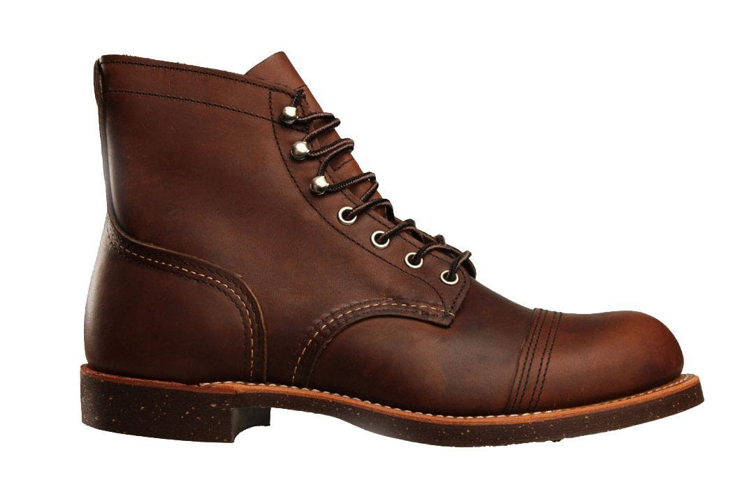 "6"" IRON RANGER 08111-1 MENS FOOTWEAR RED WING SHOES AMBER 8"