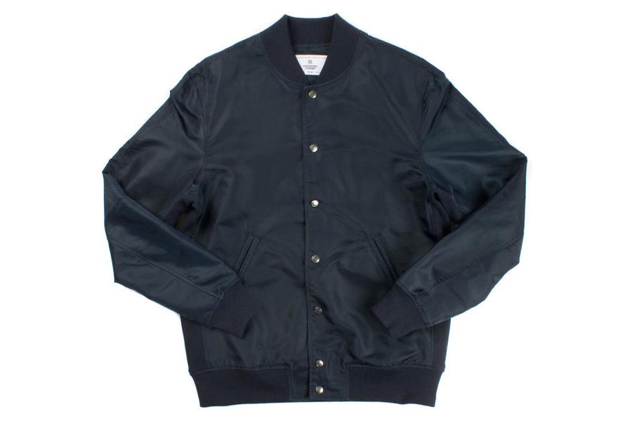 LT WT EMBR SATIN STADIUM JACKET RC-4075 NAVY MENS SOFTGOODS REIGNING CHAMP NAVY M RC-4075