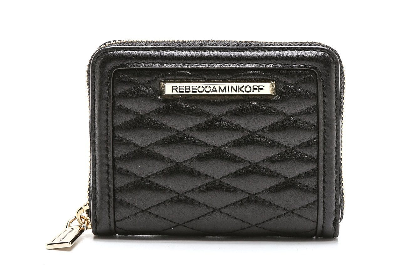 MINI AVA ZIP WALLET WOMENS BAGS REBECCA MINKOFF BLACK ONE SIZE