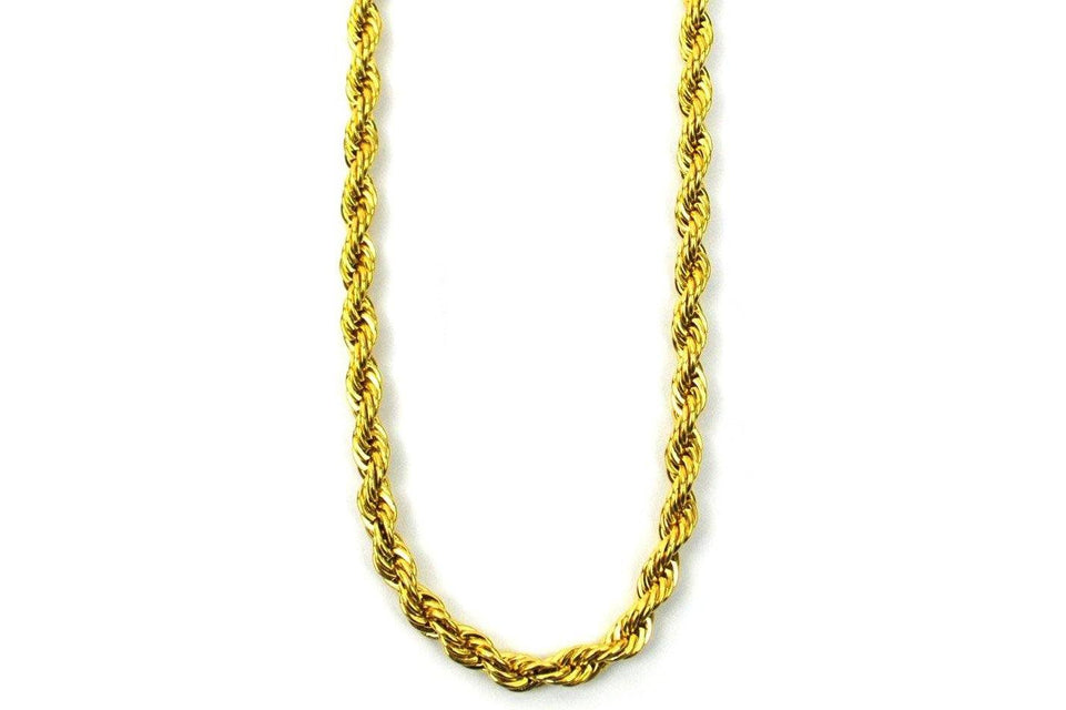 "4MM 22"" Rope Chain - GRO4MMC22 JEWELRY THE GOLD GODS"