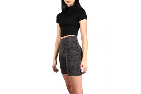 LEOPARD PRINT BIKE SHORT-BTL122