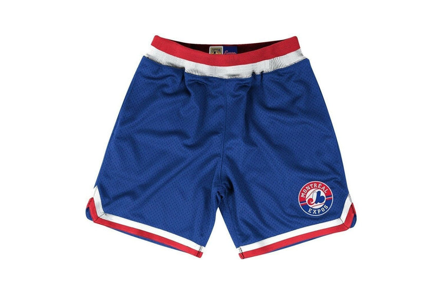 EXPOS MLB PLAYOFF WIN SHORTS - 345B4ALAMEXGH MENS SOFTGOODS MITCHELL & NESS