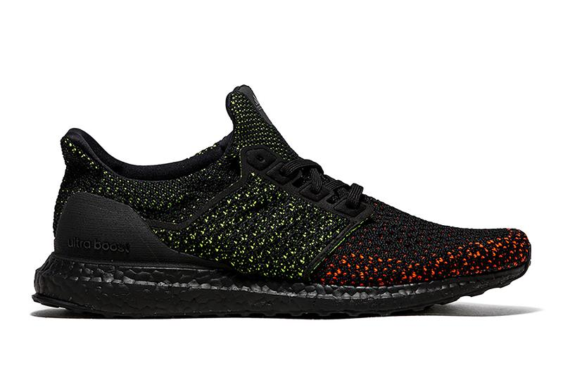 ULTRABOOST CLIMA - AQ0482 MENS FOOTWEAR ADIDAS BLK/LIMEGRN-ORANGE 7