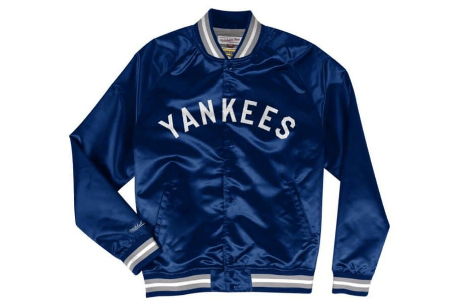 MLB YANKEES LIGHTWEIGHT JACKET - LWSTJKS19NYYN MENS SOFTGOODS MITCHELL & NESS