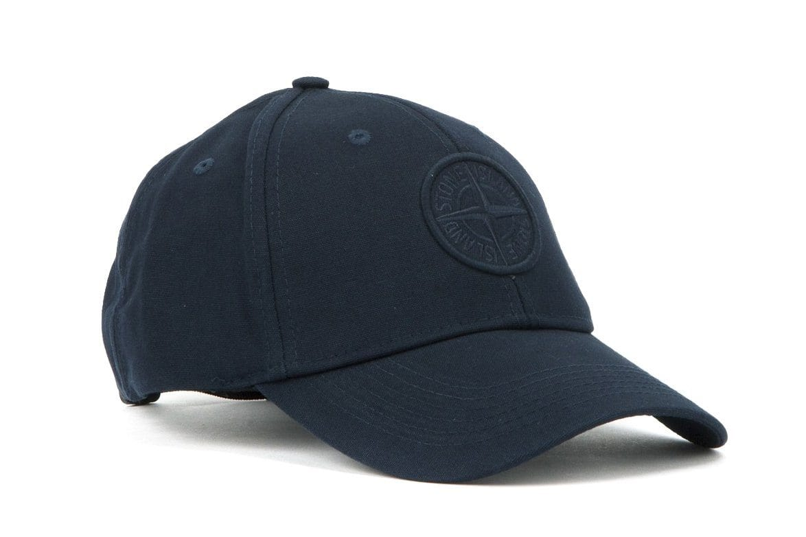 COMPASS LOGO HAT MO691599175 HATS STONE ISLAND NAVY ONE SIZE