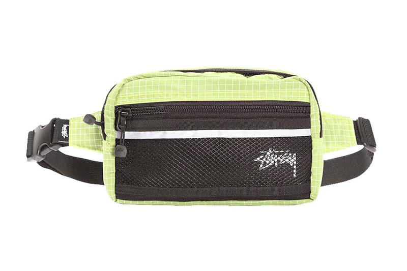 RIPSTOP NYLON WAIST BAG - 134187 WAISTBAGS STUSSY LIME ONE SIZE