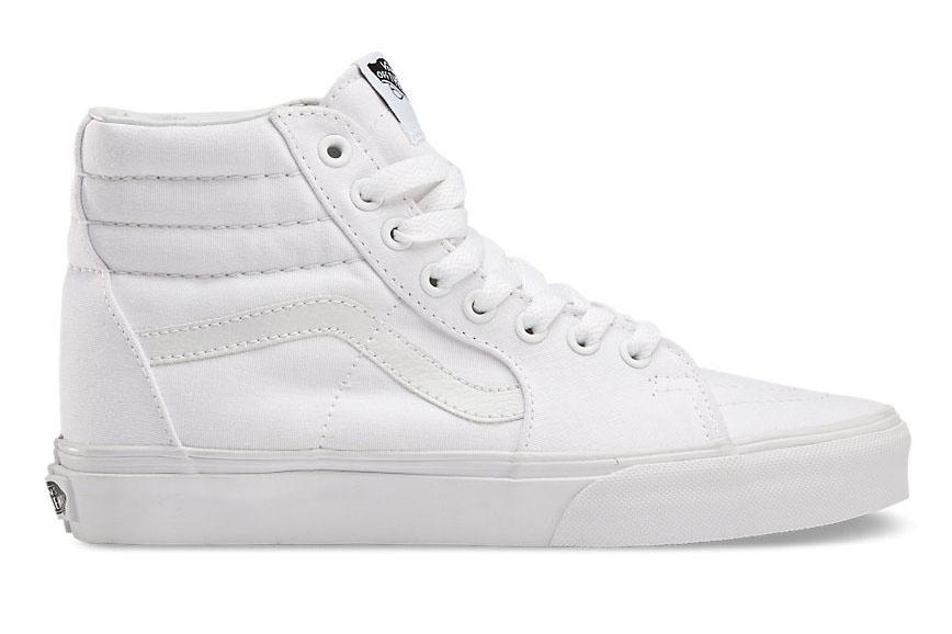 W SK8 HI TRUE WHITE WOMENS FOOTWEAR VANS TRUE WHITE 6 VN000D5IW00