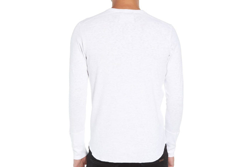 KNIT 1X1 SLUB LONG SLEEVE HENLEY-WI-2112-1 MENS SOFTGOODS WINGS+HORNS