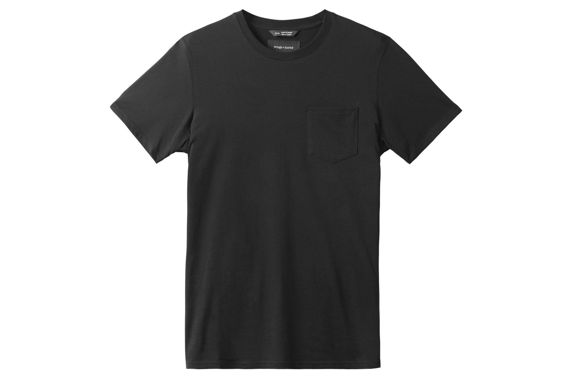 ORIGINAL POCKET T-SHIRT MENS SOFTGOODS WINGS+HORNS BLACK XL WI-1079