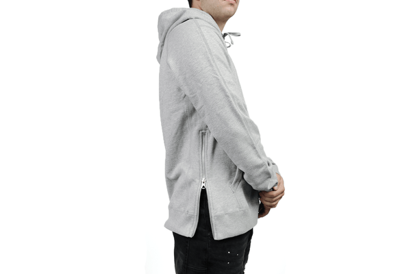 KNIT MID WEIGHT TERRY SIDE ZIP PULLOVER HOODIE RC 3393