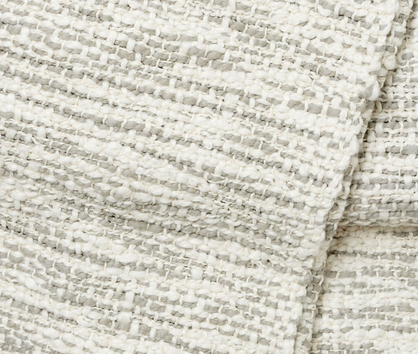 Aurora Handwoven Cotton Throw - Mist