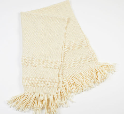 Blanca Handwoven Wool Throw - Ivory