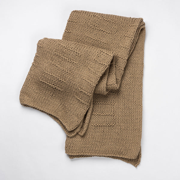 Clara Handwoven Cotton Throw - Cafe