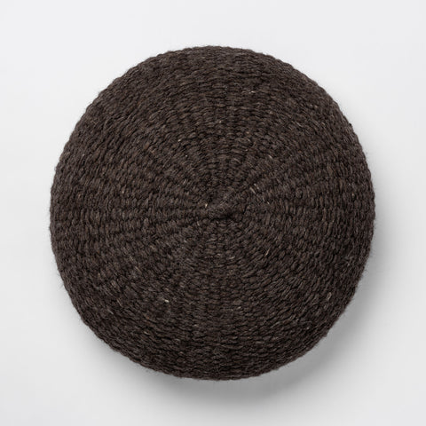 Simple Handwoven Floor Cushion - Charcoal