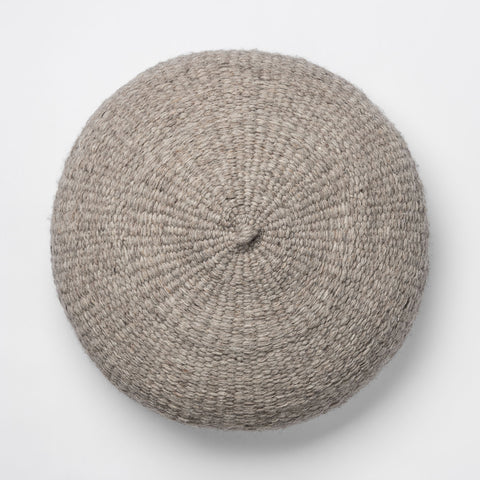 Simple Handwoven Floor Cushion - Grey