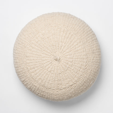 Simple Handwoven Floor Cushion - Ivory