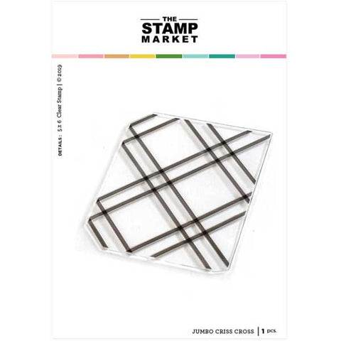 The Stamping Market Jumbo Criss Cross Background Stamp
